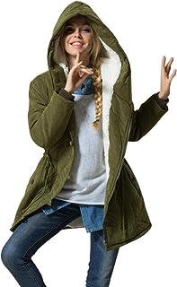 Women's Winter Warm Coat Hoodie Parkas Overcoat Fleece Outwear Jacket with Drawstring