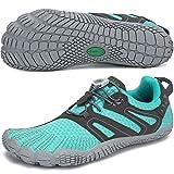 SAGUARO Hombre Mujer Zapatillas de Training Yoga Entrenamiento Gym Interior Transpirables Zapatos Correr Barefoot Resistentes Comodas Zapatos Gimnasio Asfalto Playa Agua Exterior(059 Azul, 38 EU)