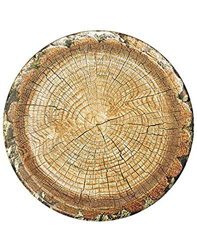 Cut Timber Party Plates (10' Round Paper Plates, 8-Pack) Cut Timber Party Collection by Havercamp