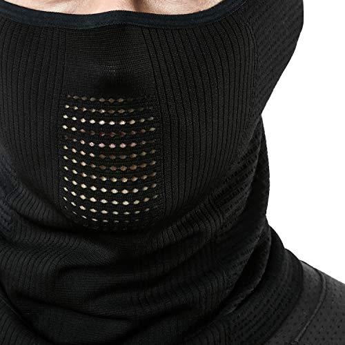 (テスラ)TESLA保温フェイスマスクランニングマスクスポーツマスクフェイスカバーネックゲーターネックガード[通気性・UVカット・吸汗速乾]ランニングジョギング男女兼用YZB10-BLK_FREE