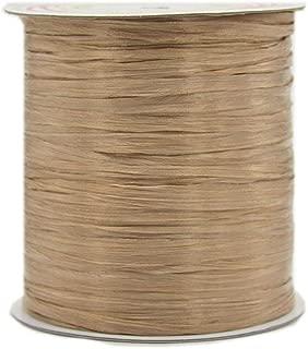 273 Yards Gold Brown Natural Cotton Raffia Yarn Crochet Summer Sun Hat Yarn,Beach Bag Yarn,Crochet Raffia Yarn,Straw Yarn,Crochet Knit Yarn