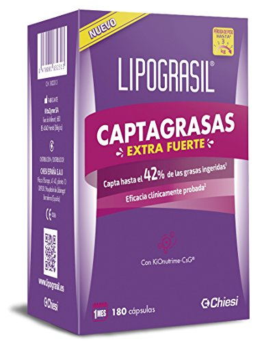 Lipograsil Captagrasas Extra fuerte – Producto sanitario para el tratamiento del sobrepeso y la obesidad – 180 cápsulas
