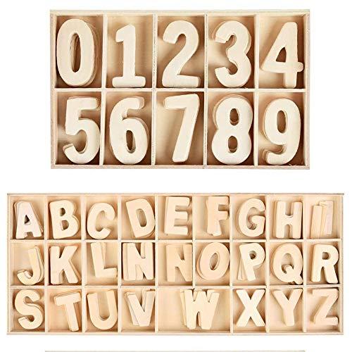 180 Piezas de Letras y Números de Madera, Números