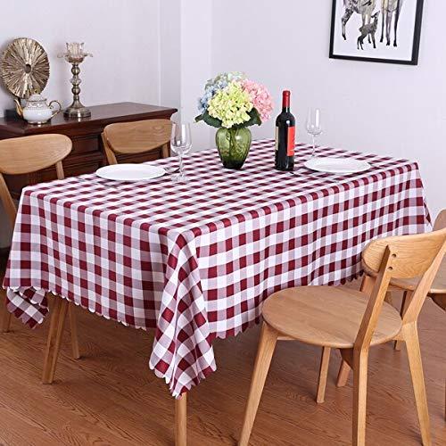 XXDD Idílico Juego de Mesa de Picnic de celosía Rectangular Mantel Restaurante Boda Comedor Fiesta Cubierta de Mantel Exterior A3 140x160cm
