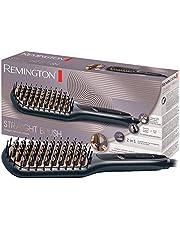 Remington Plattborste, keramiskt belagda & antistatiska borst med svala ändar, borstar och plattar håret, digital display, 150-230°C, CB7400