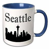 3dローズEvaDane–Images–Seattle Skyline。–マグカップ 11 oz ホワイト mug_193635_6