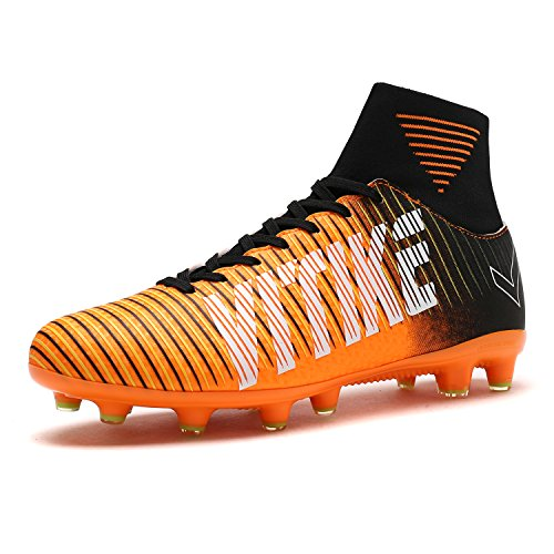VITIKE Männer Fußball Ausbildung Schuhe Draussen Fußball Stiefel (EU-39-Orange)