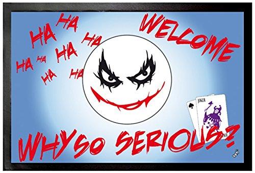 1art1 Emoticonos - Emoji, Joker, Why So Serious Felpudo Alfombra (60 x 40cm)