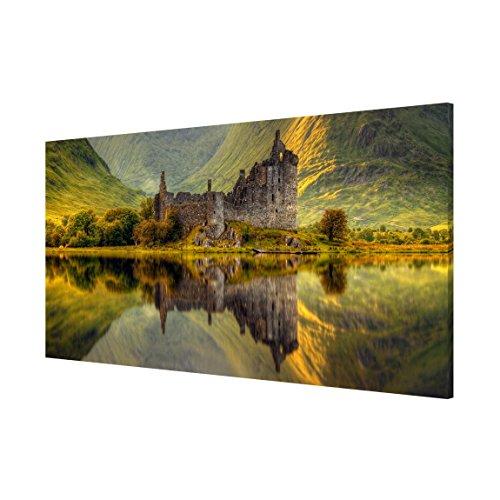 Bilderwelten Magnettafel - Kilchurn Castle in Schottland - Memoboard Panorama Quer Wandbild Magnettafel Pinnwand Magnetboard Magnetpinnwand Magnetwand Stahl Küche Büro, Größe HxB: 37cm x 78cm