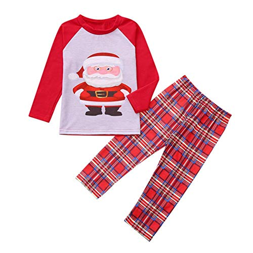 Ahomi Herfst 2 stks Ouder-Kind Kerst pyjama Set Lange Mouw Print Tops+Broek
