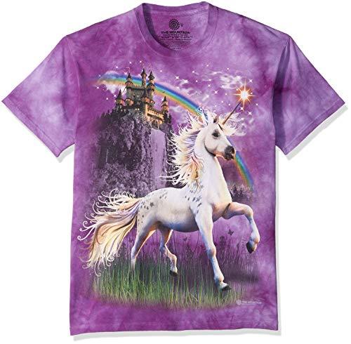 The Mountain Unicorn Castle Adult T-Shirt, Purple, 2XL