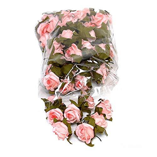 TGG Streublüten, Rosenköpfe, Foam- Schaum- Rosen, 2cm/ 50 Stück div. Farben !!! (14 rosa)