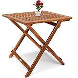 Deuba Gartentisch Klapptisch Akazie Holz Klappbar Beistelltisch Holztisch - 3