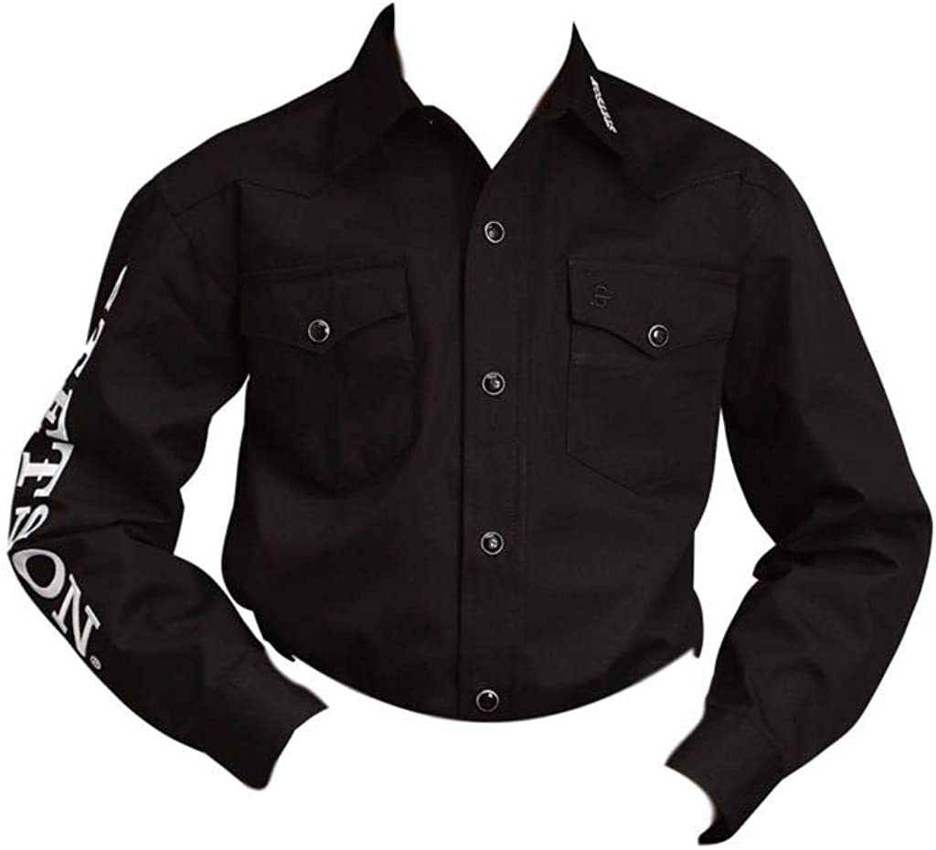 Stetson Boys' Blue Logo Wear Long Sleeve Western Shirt - 11-030-0489-1022 Bl