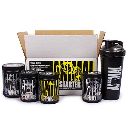 Animal Starter Kit: Trial Size Kit of Animal Pak, Animal Juiced Aminos, Animal Fury & Animal Whey Plus a Free Animal Shaker