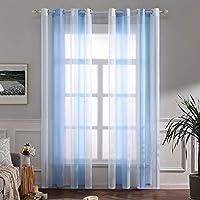 cortinas habitacion blancas y azules