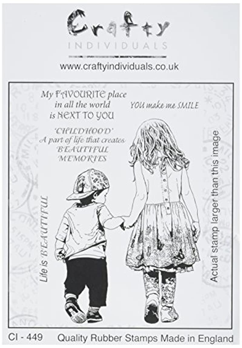 Crafty Individuals CI-449 Unmounted Rubber Stamp, 3.5