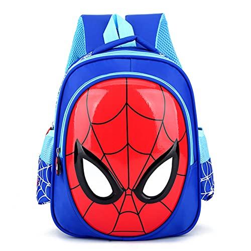 Xyh723 Niños Spiderman Mochila Superhéroe Almuerzo Satchel Al Aire Libre Picnic Escolar Adolescentes Dibujos Animados Impermeable Regalo De Cumpleaños,BlueA-One Size