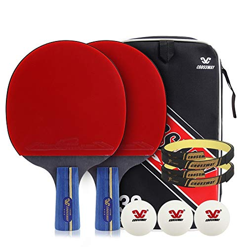 Lowest Price! Hewen-Ping Pong Set Professional Table Tennis Set with 3 Balls, Cover Bag for Trainers...