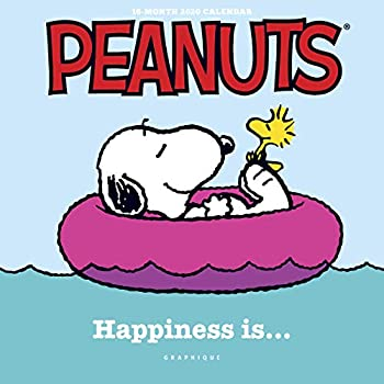 "Calendar Graphique Peanuts Mini Calendar - 16-Month 2020 Calendar, 7""x7"" w/ 3 Languages, 4-Month Preview, & Marked Holidays Book"