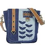 Sunsa Damen Messenger Bag Umhängetasche Handtasche, aus Canvas/Baumwolle & Leder. Große Crossbody Tasche Schultertasche, Geschenkideen für Frauen/Mädchen, nachhaltige Produkte 52472