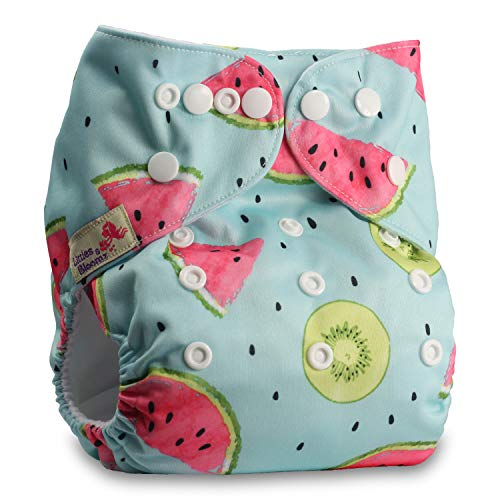 Littles & Bloomz, Reusable Pocket Cloth Nappy, Fastener: Popper, Set of 1,...