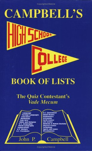 Campbell's High School College Book of Lists