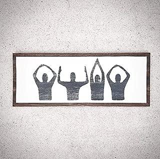 CELYCASY Custom Wood Ohio Sign - 24x9.5 Handpainted Ohio People Symbol Plank Sign - Ohio State University Buckeyes Sign - State/College Logo Sign