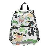 ISAOA Mochila para niños con riendas para niños, niñas, animales del zoológico exóticos, mochila para niños, mochila para guardería, bolsa de viaje con clip para el pecho