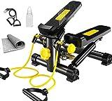 Yzdha Pantalla LCD de paso a paso, máquina de ejercicio multifunción, equipo de fitness hidráulico para pérdida de peso deportivo, mini estufa, instalación en el hogar, silencio