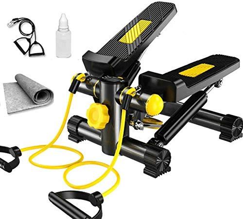 Yzdha - Pantalla LCD de paso a paso, máquina de ejercicio multifunción, equipo de fitness hidráulico para pérdida de peso deportivo, instalación en el hogar, silenciosa