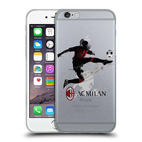 Head Case Designs Ufficiale AC Milan Calcio 1 Adolescenti Cover in Morbido Gel Compatibile con Apple iPhone 6 / iPhone 6s