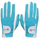chensong Guante de Golf Efunistas Mujeres Golf Glove 1 par de Mano Izquierda Derecha Mano Derecha Rendimiento Malla Antideslizante Micro Fibra Guantes de Golf Glob (Color : Blue, Size : 20 Large)