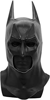 LACKINGONE Batman Mask Latex Mask Black for Cosplay Party Carnival
