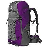 Coreal Damen und Herren Reise Wandern Rucksack trekkingrucksack 50L Lila