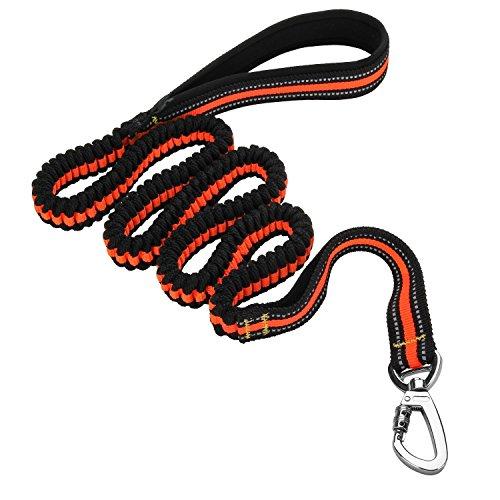 Wuzmei Laisse réfléchissant d'entraînement Bungee Laisse élastique pour chien Pet Laisse avec poignée de commande