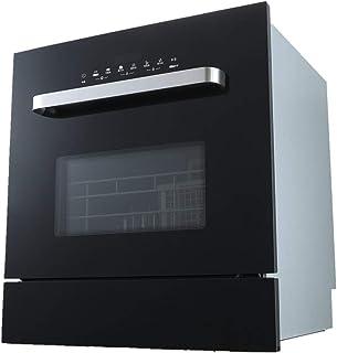 Smart dishwasher XGG Lavavajillas, DiseñO Compacto Y PequeñO, 2 Cestas, Consumo 1850w, Pantalla TáCtil, Acero Inoxidable, 6 Programas, Negro