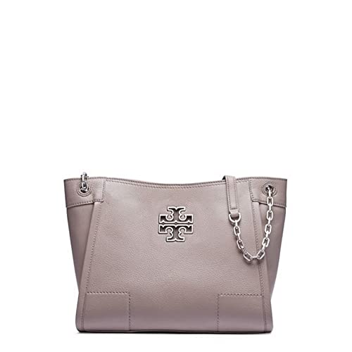 7363eff4a72d Tory Burch Britten Small Slouchy Tote (French Gray)