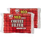 カリタ Kalita コーヒーフィルター ブラウン 4~7人用 NK103濾紙 100枚入り×2個セット