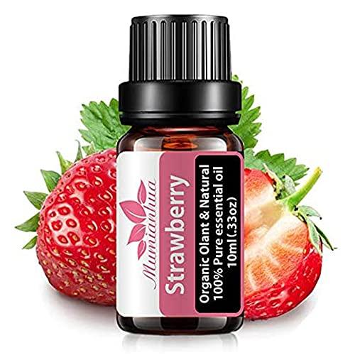 JIXIN Aceite Esencial De Fresa - Aceite Orgánico con Fragancia De Fresa Aceite De Aromaterapia De Fresa 10 Ml Aceites Esenciales Afrutados Puros