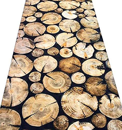 ditan XIAWU 3D-Eingangsteppich Schlafzimmer Gang Treppe Zuhause rutschfest Kann Geschnitten Werden (Color : A, Size : 60x480cm)