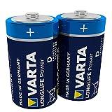 Varta 4920 Pack de 2 Pilas alcalinas, tamaño D, 1.5 V, Azul, Pack 2