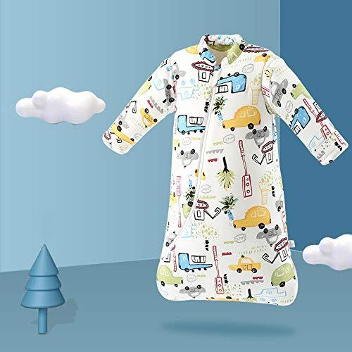 Dtcat Schlafsack mit Füßen,Babyschlafsack,verdickter einteiliger Kinderschlafsack aus Baumwolle @ D_M,Unisex,Säuglingsschlafsack-Sicherheitsverschluss