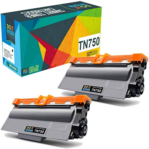 Do it Wiser Compatible Toner Cartridge for Brother TN750 TN-750 TN720 TN-720 to use with HL-5450DN HL-5470DW HL-6180DW MFC-8710DW MFC-8910DW MFC-8950DW (Black, High Yield, 2-Pack)