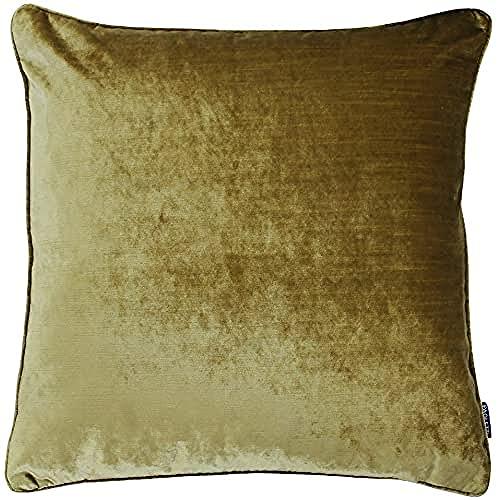 Paoletti Luxe Velvet Kissenbezug, Polyester, Gold,55 x 55cm