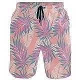 Moda Pantaloncini da Spiaggia da Uomo con Motivo a Foglia di Banana e Banana Banchi da Bagno Sport da Corsa Costumi da Bagno con Fodera in Rete