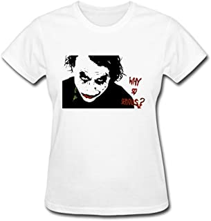 ZhiBo Why So Serious Customized T-shirt for Women