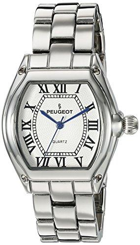 Peugeot Women's  Silver Tank Roman Numeral Bracelet Dress Watch 7069S
