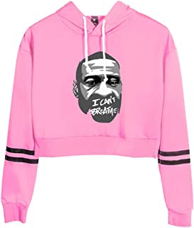 Mele & Co Women's Stop Police Brutality Hoodies, Protest Social Justice- I Cant Breathe for George FLO.yd,Rosado,XXL