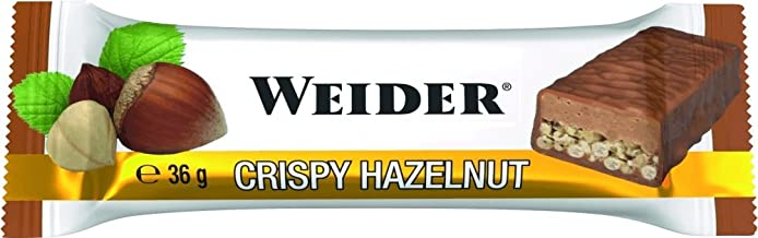 Weider Fitness Protein Bar Crispy Hazelnut 24x36g Estimated Price : £ 37,75